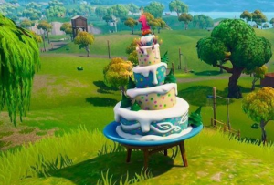 birthday cake locations fortnite