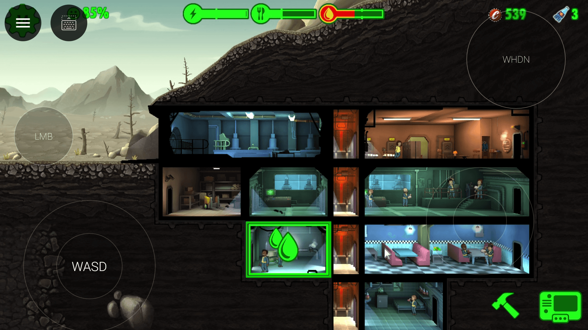 fallout shelter tricks