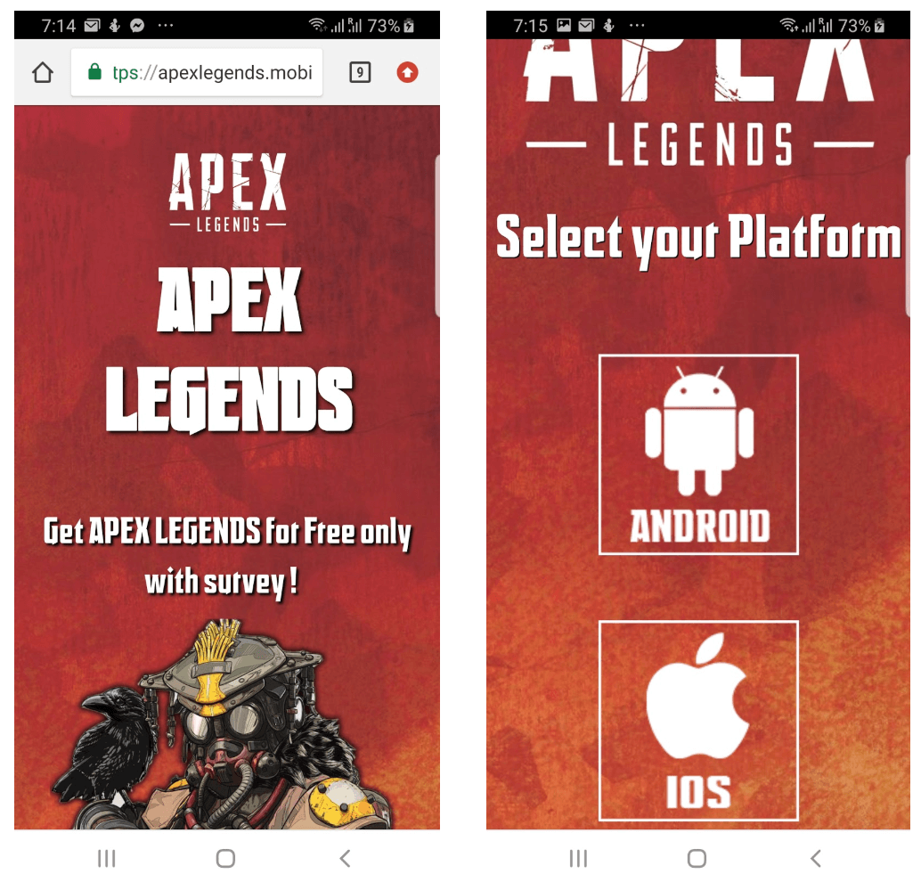Apex legends on mobile fake app