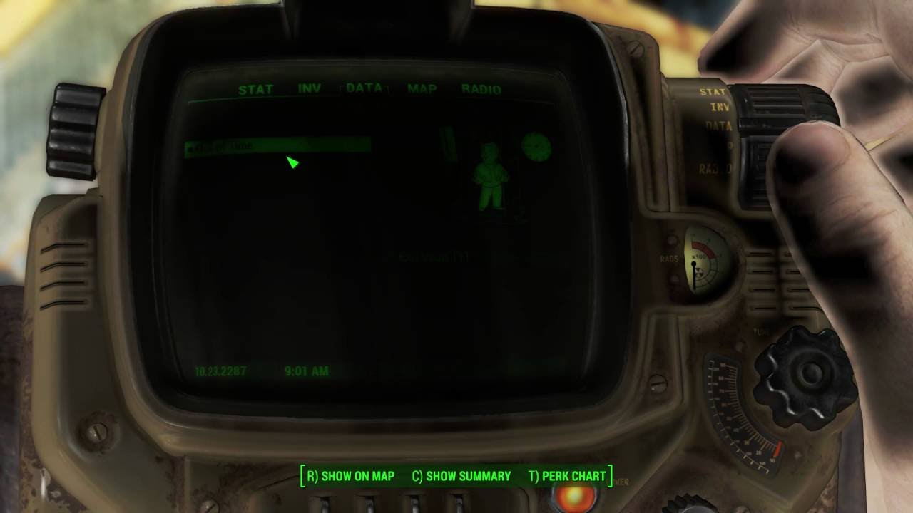 dark pip boy issue