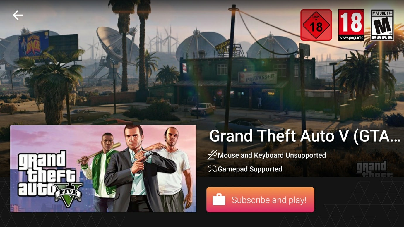 GTA 5 starting page at Vortex