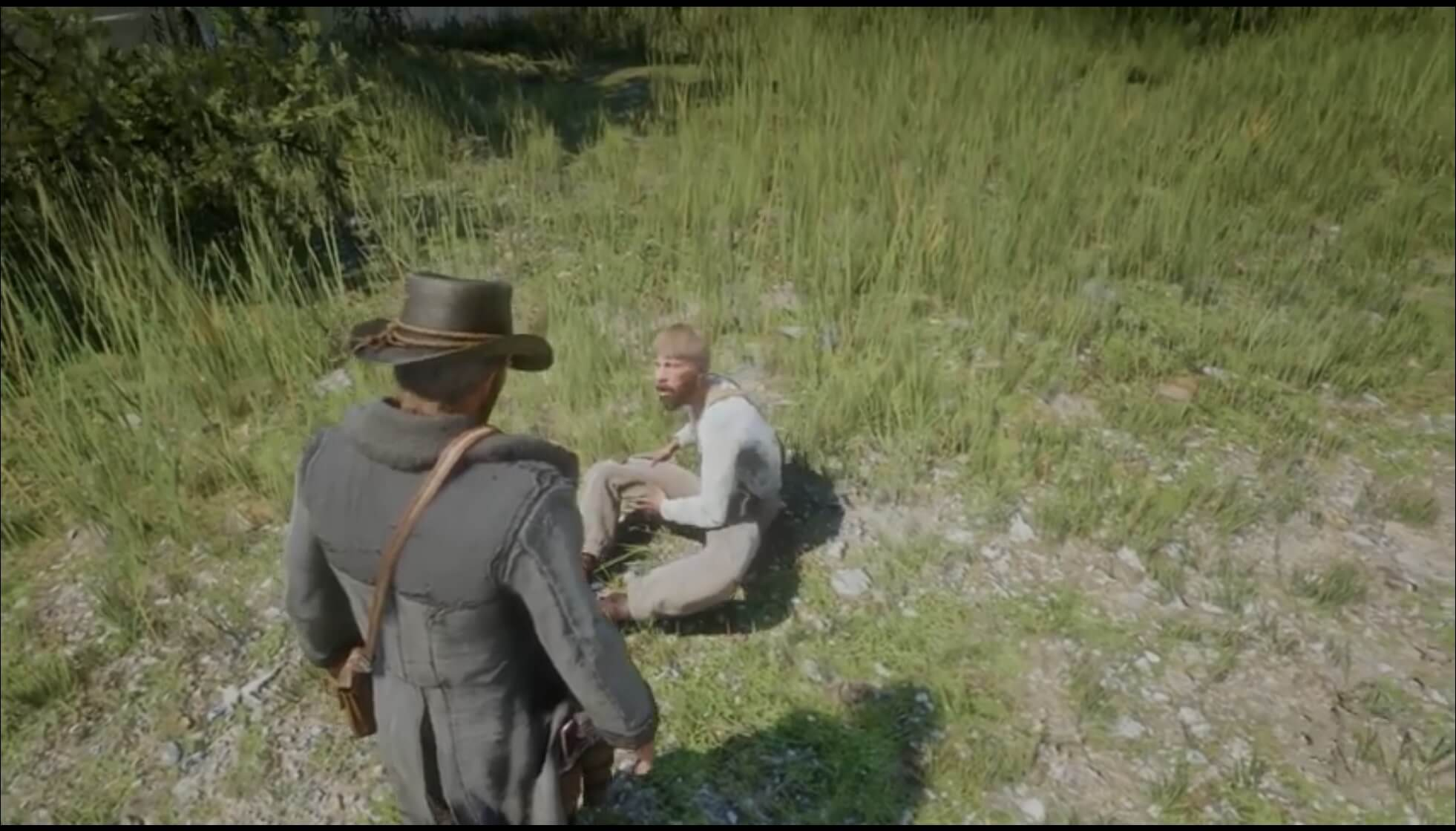 Red Dead Redemption 2 tips -Getting a free gun from a guy